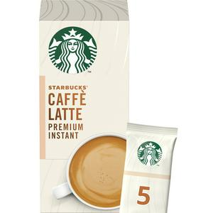Starbucks Caffe Latte Premium Instant Coffee, 5x14g Sachets (70g)