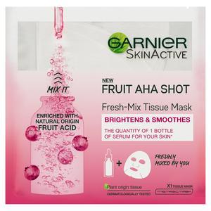 Garnier Fresh-Mix Smoothing Face Sheet Mask Fruit AHA for Fine Lines & Dull Skin 33g
