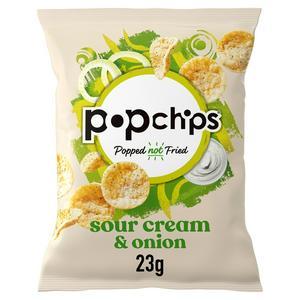 Popchips Sour Cream & Onion Crisps 23g