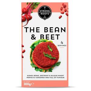 Strong Roots The Bean & Beet Burger x4 300g