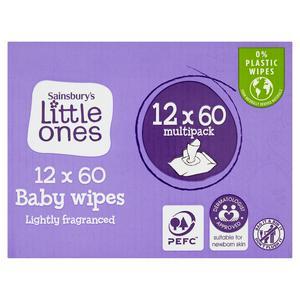 Sainsbury's Little Ones Fragranced Bio Baby Wipes 12x64