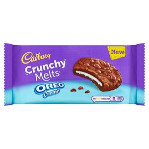 Cadbury Crunchy Melts Oreo Creme Chocolate Cookies 156g