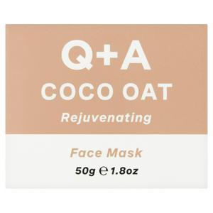Q+A Coco Oat Rejuvenating Face Mask 50g