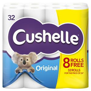 Cushelle White Toilet Tissue x32 Rolls