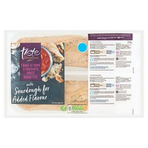 Sainsbury's Bake at Home Stonebaked White Baguettes, Taste the Difference x2 250g