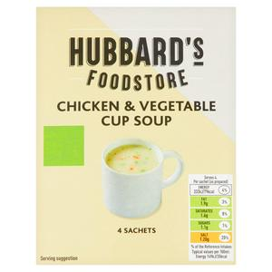Hubbards Chicken & Vegetable Cup Soup 4x22g