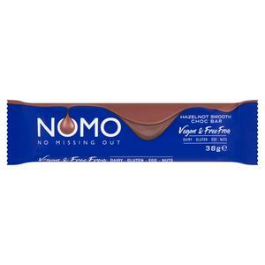 Nomo Vegan Hazelnot Filled Chocolate Bar 38g