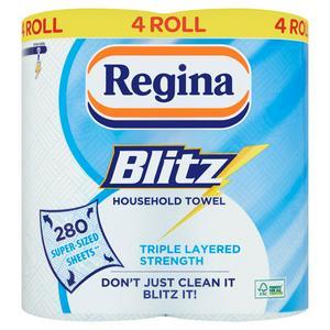 Regina Blitz Household Towel Roll x4