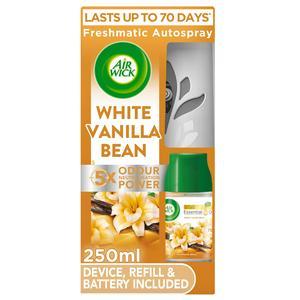 Air Wick Freshmatic Autospray Air Freshener Kit White Vanilla Bean Holder & Refill 250ml