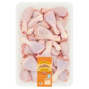 Sainsbury's British Fresh Chicken Skin on Drumsticks 2kg
