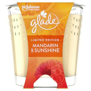 Glade Jar Candle Small Scented Candles Mandarin & Sunshine 129g