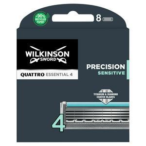 Wilkinson Sword Quattro Titanium Sensitive Men's Razor Blades x8