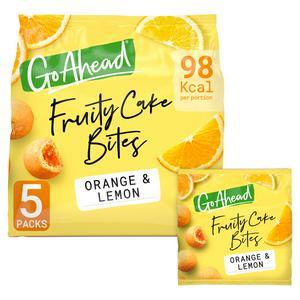 Go Ahead Fruity Cake Bites Orange & Lemon 136.4g