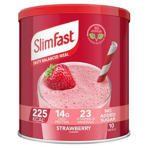 SlimFast Powder Tin Strawberry Flavour Shake 365g