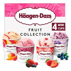 Haagen-Dazs Fruit Minicup Ice Cream Collection 4x95ml