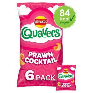 Walkers Quavers Prawn Cocktail Multipack Snacks x6 16g