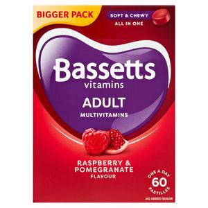 Bassetts Adults Multivitamins Raspberry & Pomegranate Flavour Soft Chewies x60