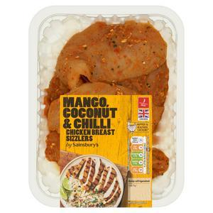 Sainsbury's Coconut & Mango Fresh British Chicken Breast Sizzlers 315g
