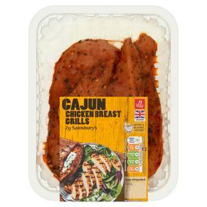 Sainsbury's Cajun Fresh British Chicken Breast Fillets 310g