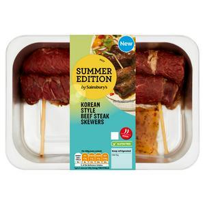 Sainsbury's Summer Edition Korean Beef Steak Skewers 380g