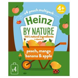Heinz By Nature Peach, Mango, Banana & Apple 4+ Months 100g
