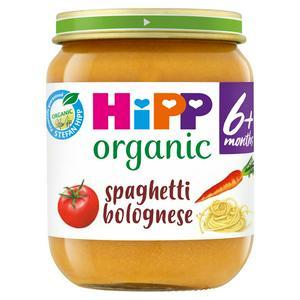 Hipp Organic Spaghetti Bolognese Baby Food Jar 6+ Months 125g