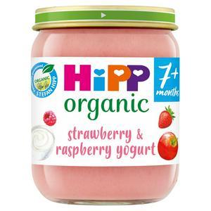 Hipp Organic Strawberry & Raspberry Yogurt Baby Food Jar 7+ Months 160g
