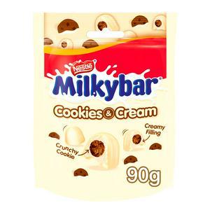 Milkybar Cookies & Cream White Chocolate Bites Pouch Sharing Bag 90g