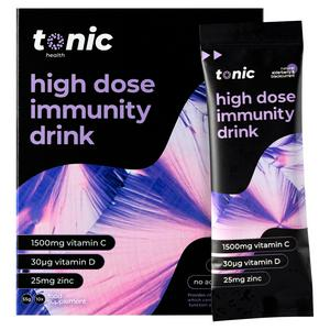 Tonic Health Natural Elderberry & Blackcurrant High Dose Immunity Drink 10x5.5g
