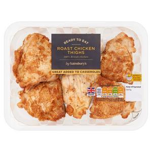 Sainsbury's Roast British Cooked Chicken Thighs 450g