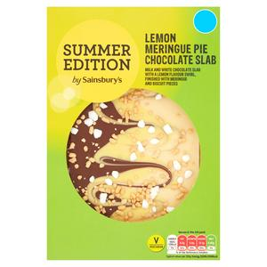 Sainsbury's Summer Edition Lemon Meringue Pie Chocolate Slab 170g