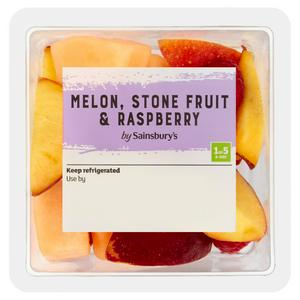 Sainsbury's Melon, Stone Fruit& Raspberry 220g