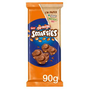 Smarties Orange Milk Chocolate Sharing Block 90g