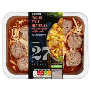 Sainsbury's Italian Style Meatballs 400g (serves x2)
