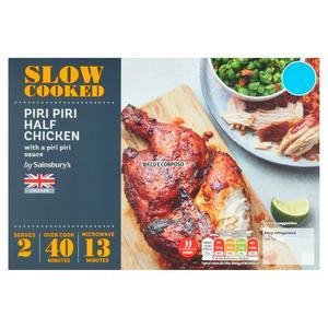 Sainsbury's Slow Cooked Piri Piri Half British Chicken 690g