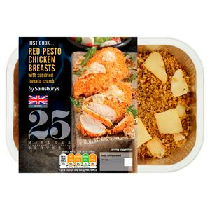 Sainsbury's Just Cook British Chicken Breasts with Red Pesto 320g (serves x2)