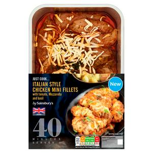 Sainsbury's Just Cook Italian Style British Chicken Breast Mini Fillets 720g (serves 3 to 4)
