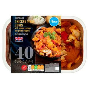 Sainsbury's Just Cook British Chicken Breast Tikka Curry 435g (serves x2)