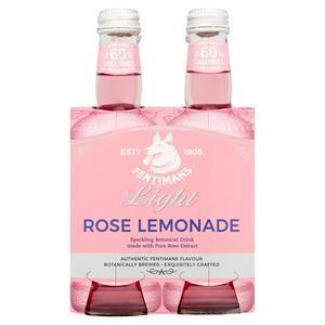 Fentimans Light Rose Lemonade 4x250ml