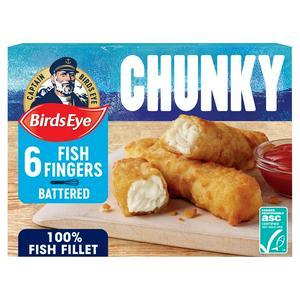 Birds Eye Chunky Crispy Batter Fish Fingers x6 360g