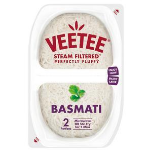 Veetee Heat& Eat Basmati Rice Pots x2 250g