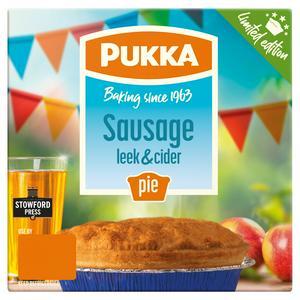 Pukka Sausage Leek & Cider Pie Limited Edition 210g