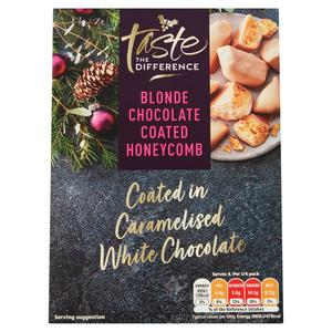 Sainsbury's Blonde Chocolate Coated Honey Comb, Taste the Difference 100g