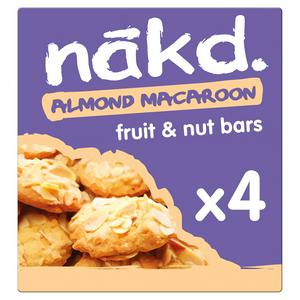 Nakd Almond Macaroon Fruit & Nut Bars 4x35g