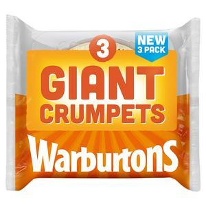 Warburtons Giant Crumpets x3