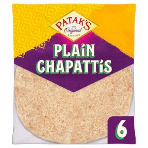 Patak's The Original Plain Chapattis x6 360g
