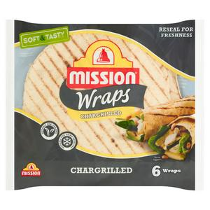 Mission 6 Wraps Chargrilled 367g