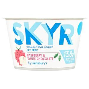 Sainsbury's Raspberry & White Chocolate Yogurt 150g