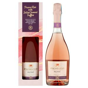 Sainsbury's Prosecco Ros� with Salted Caramel Chocolate Truffles Gift Set, Taste the Difference 75cl