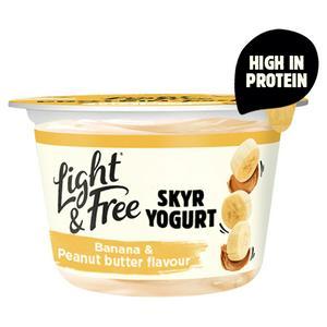 Light & Free Protein Yogurt Banana & Peanut Butter Flavour 150g